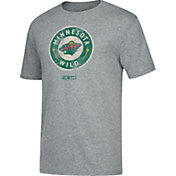 CCM Men's Minnesota Wild Big Logo Heather Grey T-Shirt