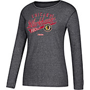 CCM Women's Chicago Blackhawks Open Season Black Long Sleeve Shirt