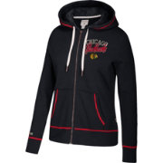 CCM Women's Chicago Blackhawks Logo Fleece Black Full-Zip Hoodie
