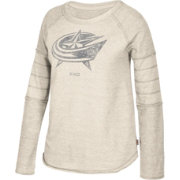 CCM Women's Columbus Blue Jackets Grey Raglan Long Sleeve Shirt