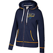 CCM Women's St. Louis Blues Logo Fleece Navy Full-Zip Hoodie