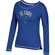 CCM Women's St. Louis Blues Paint Chip Navy Long Sleeve Shirt