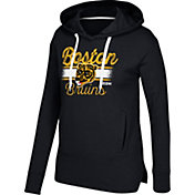 CCM Women's Boston Bruins Bottom Stripe Black Pullover Hoodie