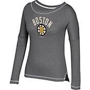 CCM Women's Boston Bruins Paint Chip Grey Long Sleeve Shirt