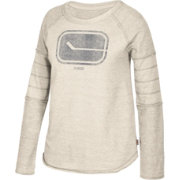 CCM Women's Vancouver Canucks Grey Raglan Long Sleeve Shirt