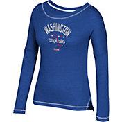 CCM Women's Washington Capitals Paint Chip Navy Long Sleeve Shirt