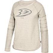 CCM Women's Anaheim Ducks Grey Raglan Long Sleeve Shirt