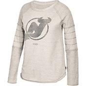 CCM Women's New Jersey Devils Grey Raglan Long Sleeve Shirt
