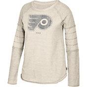 CCM Women's Philadelphia Flyers Grey Raglan Long Sleeve Shirt