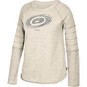 CCM Women's Carolina Hurricanes Grey Raglan Long Sleeve Shirt