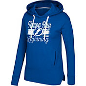CCM Women's Tampa Bay Lightning Bottom Stripe Royal Pullover Hoodie