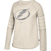 CCM Women's Tampa Bay Lightning Grey Raglan Long Sleeve Shirt