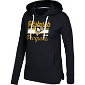 CCM Women's Pittsburgh Penguins Bottom Stripe Black Pullover Hoodie