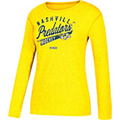 CCM Women's Nashville Predators Open Season Gold Long Sleeve Shirt