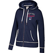 CCM Women's New York Rangers Logo Fleece Navy Full-Zip Hoodie