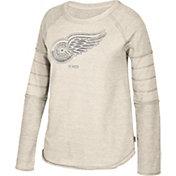CCM Women's Detroit Red Wings Grey Raglan Long Sleeve Shirt
