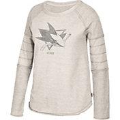 CCM Women's San Jose Sharks Grey Raglan Long Sleeve Shirt