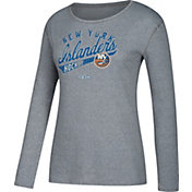 CCM Women's New York Islanders Open Season Grey Long Sleeve Shirt