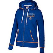 CCM Women's New York Islanders Logo Fleece Royal Full-Zip Hoodie