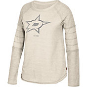 CCM Women's Dallas Stars Grey Raglan Long Sleeve Shirt