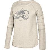 CCM Women's Colorado Avalanche Grey Raglan Long Sleeve Shirt