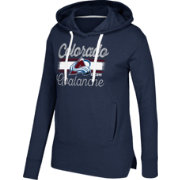 CCM Women's Colorado Avalanche Bottom Stripe Navy Pullover Hoodie