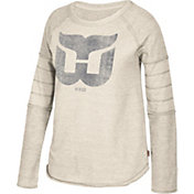 CCM Women's Hartford Whalers Grey Raglan Long Sleeve Shirt