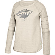 CCM Women's Minnesota Wild Grey Raglan Long Sleeve Shirt