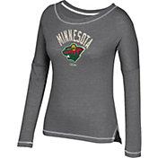 CCM Women's Minnesota Wild Paint Chip Grey Long Sleeve Shirt