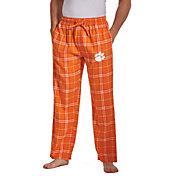 Concepts Sport Men's Clemson Tigers Orange/White Huddle Sleep Pants