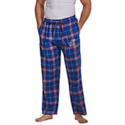 Concepts Sport Men's Kansas Jayhawks Blue/Crimson Huddle Sleep Pants