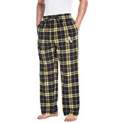Concepts Sport Men's Appalachian State Mountaineers Black/Gold Huddle Sleep Pants