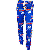 Concepts Sport Women's Kansas Jayhawks Blue Slide Sleep Pants