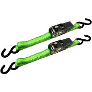 CargoLoc 8' S-Hook Ratchet Tie Down Straps- 2 Pack