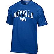 Champion Men's Buffalo Bulls Blue Logo T-Shirt