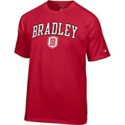Champion Men's Bradley Braves Red Logo T-Shirt