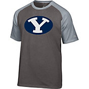 Champion Men's BYU Cougars Grey Big Logo T-Shirt