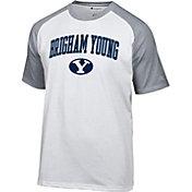 Champion Men's BYU Cougars White Logo T-Shirt