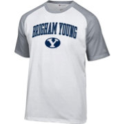 Champion Men's BYU Cougars White Logo T-Shirt
