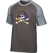 Champion Men's East Carolina Pirates Grey Big Logo T-Shirt