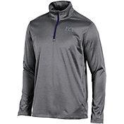 Champion Men's East Carolina Pirates Grey Knit Mesh Quarter-Zip Shirt