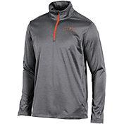 Champion Men's Clemson Tigers Grey Knit Mesh Quarter-Zip Shirt