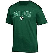 Champion Men's Cal Poly Mustangs Green Big Soft T-Shirt