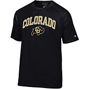 Champion Men's Colorado Buffaloes Black Word Logo T-Shirt