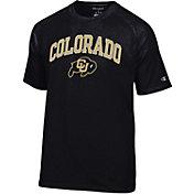 Champion Men's Colorado Buffaloes Black Word Logo T-Shirt