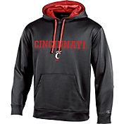 Champion Men's Cincinnati Bearcats Black T-Formation Pullover Hoodie
