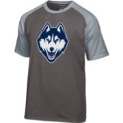 Champion Men's UConn Huskies Grey Big Logo T-Shirt