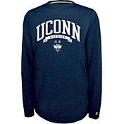 Champion UConn Huskies Blue Pursuit Long Sleeve Shirt