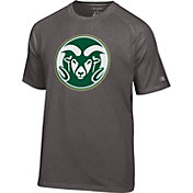 Champion Men's Colorado State Rams Grey Big Logo T-Shirt