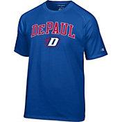Champion Men's DePaul Blue Demons Royal Blue Logo T-Shirt